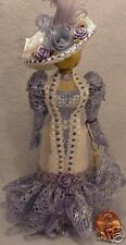 Dollhouse Miniature Dressform In Blue & White With Hat
