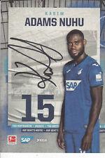 Kasim Adams Nuhu - Ghana, TSG 1899 Hoffenheim 2020/21, Original-Autogramm!