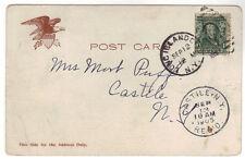 1905 Postcard Long Island City Duplex Castile NY Rec'd St. Paul Bldg NY Queens