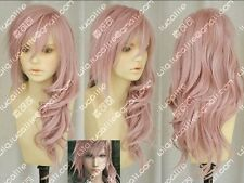 Final fantasy XIII Lightning curl Pink / purple Cosplay wig COS H173