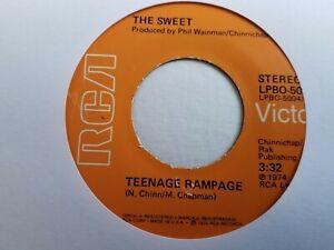 """The Sweet - Teenage Rampage - 7"""" Vinyl Single"""