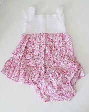 Ralph Lauren Baby Girls Floral Dress & Bloomer Pink Multi Sz 9M - NWT
