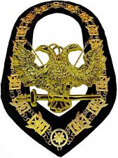 Masonic COLLAR Regalia 32 Degree WINGS UP SCOTTISH RITE + PENDANT DMR700GBK+P300