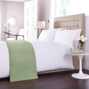 Charlotte Thomas Faux Suede Bed Runner in Lime Green