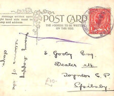 CB165 1912 GB LINCS *Toynton All Saints Spilsby* Village Rubber CDS Postmark PPC
