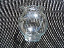 Vintage 60's Clear Glass Round ROSE BOWL Bubble  Vase Ruffle Rim FREE S&H NWOT!!