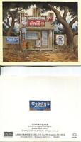 VINTAGE COCA COLA 7 UP INDIAN BRAND CORN MEAL GOODY'S GULF OIL SOAP NOTE CARD