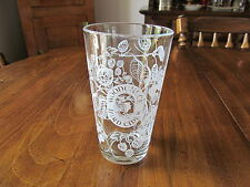 Woodchuck Hard Cider Pint Glass Berry And Leaf Design