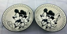 "Mickey Minnie Mouse 2 Pcs Set Cereal Bowl Disney New  Set 4 3/4 "" Diam  NWT"