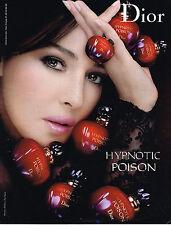 PUBLICITE ADVERTISING 104  2009  DIOR   MONICA BELLUCCI  HYPNOTIC POISON parfum
