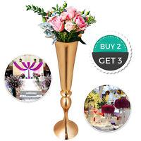 """Trumpet Vase Flower Vases Centerpiece Gold 29.5"""" Decoration Candle Holder Event"""