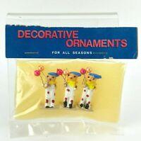 """VTG Dollhouse Miniature CLOWN w Balloons 1"""" Taiwan Diorama Figure Train Display"""