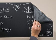 45cm x 110cm SELF ADHESIVE BLACKBOARD VINYL WITH 5 CHALKS REMOVABLE WALL DECAL