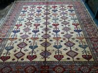 "Oriental Rug Fine super Kazak Wool  Hand Knotted Tribal Design Rug 8'2"" X 9'8"""