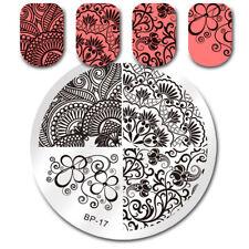 Nail Art Stamping Plate Elegant Flower Image Stamp Template BP-17 Born Pretty