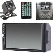 """12V Car 7""""TFT HD Bluetooth Touch Screen 2 DIN Stereo Radio FM  MP5 with Camera"""