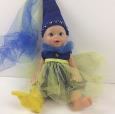 Poseable Baby Doll Plastic in Blue Dress 2001