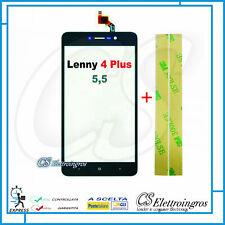 TOUCH SCREEN NERO WIKO LENNY 4 PLUS 5,5' VETRO TOUCHSCREEN + BIADESIVO