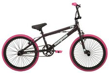 Mongoose FSG BMX Bike, 20-inch Wheels Single Speed Durable Frame Black / Pink