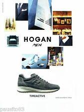 PUBLICITE ADVERTISING 116  2011  Hogan Men  baskets  Timeactive