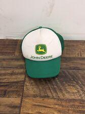 John Deere Hat - White Front, Green Bill And Green Mesh Back