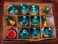 VINTAGE LOT of 12 LARGE CHRISTMAS TREE BAUBLES in Box