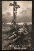 1908 Frysztak Austria Picture Postcard Cover god for king and fatherland