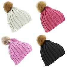 Faux Fur Girls' Beanie Hats