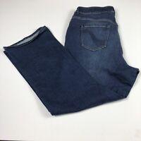 Lane Bryant Slim Boot Women's Jeans Size 24 Plus Distressed Genius Fit Med Wash