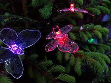 Solar Lichterkette, Schmetterling, 7 wechselnde Farben, 20 LEDs Butterfly