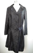 DRIES VAN NOTEN black jacquard silk coat with belt size medium M WORN ONCE