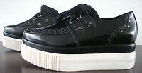 ASH Plateau Slipper Schuhe Sneaker Damen Halbschuhe Leder Lack Black Gr.37 NEU