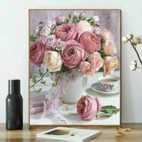Diamond Pink Rose Painting Roses For Kids DIY Paint Adults Paint By Number Kits