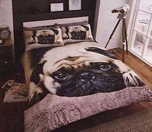 King Pug Duvet Cover With Pillow Case Bedding Set