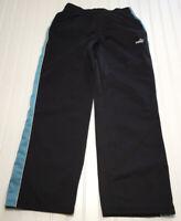 PUMA Womens Size Medium Black Activewear Pants Drawsting Elastic Waist