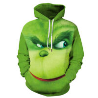 Rascal Green Monster The Grinch Men's Hoodie Jacket Shirts Cosplay Custume Xmas