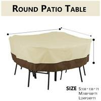 Waterproof UV Square Outdoor Patio Garden Furniture Table Chair Cover Shelter US