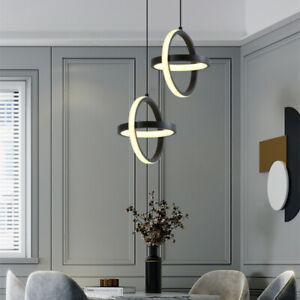 Kitchen LED Pendant Light Bar Chandelier Lighting Black Lamp Home Ceiling Lights