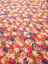 Stoff 0,5 m Blumen 6,90€/m rot blau rosa 100% Polyester Meterware Dekostoff