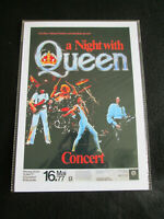 QUEEN : A NIGHT WITH QUEEN   :  A4  REPO POSTER