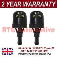 PAIR UNIVERSAL WINDSCREEN WASHER SINGLE JET TALL STRAIGHT INLET PUSH FIT WWY9