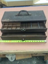 Vintage Kennedy Kits Tackle Box Tool Style No. 2020 Two Drawer Metal Dividers