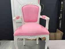 KIDS CHILD SMALL DOLL FRENCH PROVINCIAL LOUIS XV CHAIR ARM BEDROOM PINK