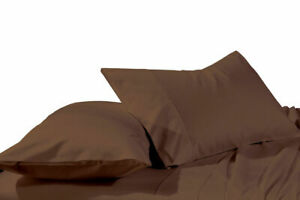 2X Solid Pillowcases Super Soft Easy Care Wrinkle Resistant Microfiber ( Pair )