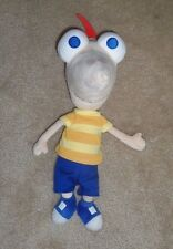"""Disney Store Phineas and Ferb TALKING PHINEAS 15"""" Plush Toy"""