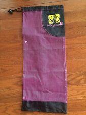 "28"" Nylon & Mesh Yoga Mat Bag Body Glove Adjustable Padded Strap Pink & Black"