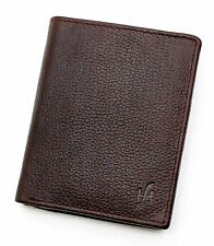Starhide Mens Luxury Oiled Brown Leather Wallet With Zip & Flap Coin Pocket 1105