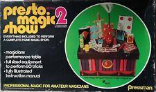 1975 Pressman Presto Magic Show 60 Tricks Set No. 2 Original Box No 702 FREE SH
