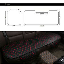 Black Pu Leather Car Seat Cover Rear Seat Cushion Mat Protector Red stitching
