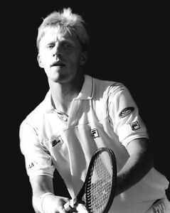 1980s BORIS BECKER Glossy 8x10 Photo Tennis Player Print Wimbledon Poster